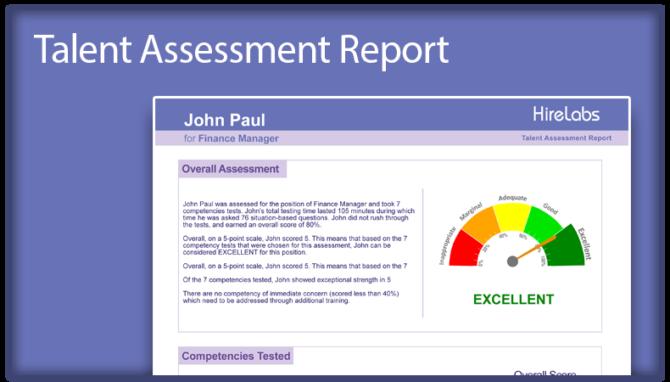 Talent Assessment Report